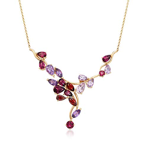 Multi Stone Cluster Necklace - Ross-Simons 4.40 ct. t.w. Multi-Stone Cluster Necklace in 14kt Yellow Gold