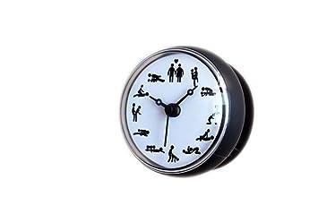 LybSclock Cuarto de baño Reloj Reloj de baño Reloj de Cocina a Prueba de Agua Reloj Ventosa Reloj Suministros para el hogar Reloj de Pared, 2: Amazon.es: ...