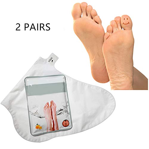 2 Pairs Exfoliating Foot Peel Mask Peels Away Calluses and Dead Skin in 2 Weeks! -Baby Your Feet Naturally