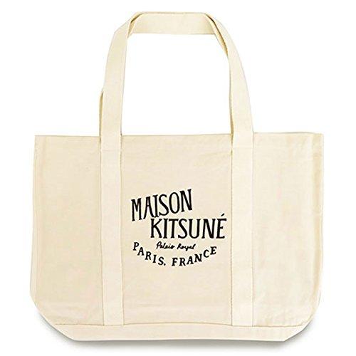 MAISON KITSUNE メゾンキツネ キャンバス トートバッグ オフホワイト 9180[並行輸入品] B0775V75MH