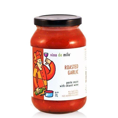 Vino de Milo No Sugar Added Pasta Sauce (16 oz) - Roasted Garlic Chianti (1.462 ()