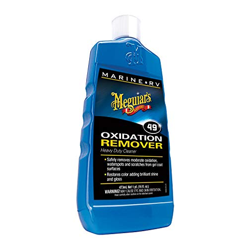 Meguiar's M4916 Marine/RV Heavy Duty Oxidation Remover, 16 Fluid Ounces (Best Boat Wax To Remove Oxidation)