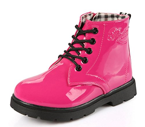 Women 's Martin Boots Casual Fashion Women Boots (Red) - 4
