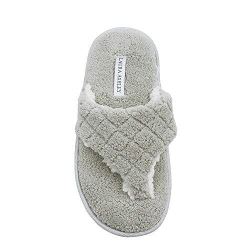 Spa Insole Laura Thong Memory Rye Ladies Strap Slippers Foam Ashley Plush wtqgaP