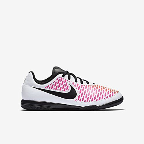Nike Jr. Magista Onda IC (White, Black-Pink, Volt) (2) - Indoor Soccer Girls Nike
