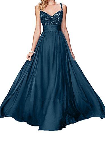 Schwarz Langes Brautmutterkleider Elegant Ballkleider Spitze Rock Dunkel Damen Blau Abendkleider Charmant A Linie HCq5wSaw