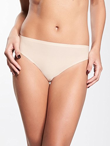 Chantelle Women's Soft Stretch Regular Rise Thong, Ultra Nude, One Size
