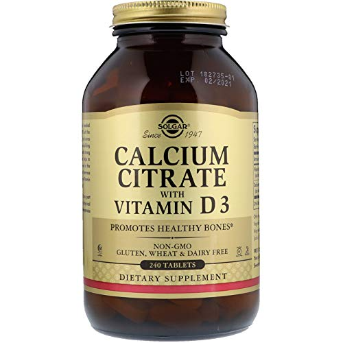 Solgar - Calcium Citrate with Vitamin D3, 240 Tablets
