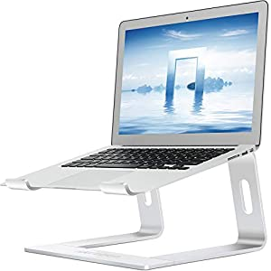 Skrebba Laptop Stand, Detachable Aluminum Computer Notebook Holder Stand for Desk, Ergonomic Laptop Riser Portable Laptop Elevator Compatible with Apple MacBook Air Pro, Lenovo, HP, Dell (10-17″ ) PC