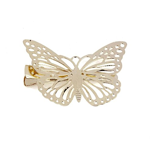 Hair Clip, Bolayu Golden Butterfly Headb - 18k Braid Ring Shopping Results