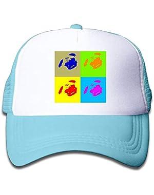 Pug Art On Children's Trucker Hat, Youth Toddler Mesh Hats Baseball Cap