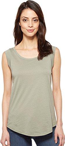 Alternative Women's Cap-Sleeve Crew T-Shirt, Venice Green, (Green Womens Cap Sleeve T-shirt)