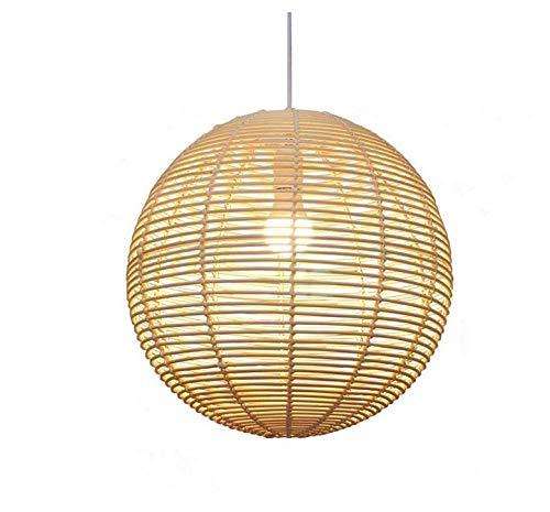 Amazon.com: Lámpara de techo de araña de mimbre para lámpara ...