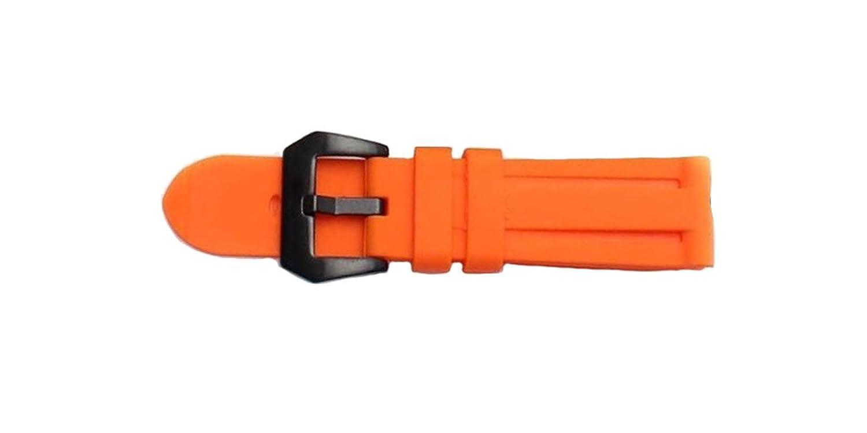 24 mmシリコン時計バンドストラップGeneric for Paneriaスタイル 24mm rosegold buckle オレンジ B078J6Q3QFオレンジ 24mm rosegold buckle
