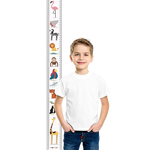 Animals Growth Chart Handing Wall Decor for Kids rule Height Growth Chart with Stickers £¬ Measures From Birth To Adult. Choice Of 6 Bright Designs Animal pattern