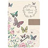 A5 Address Book - Beautiful Fabric Style - Butterfly or Chic Design - Tallon 6252