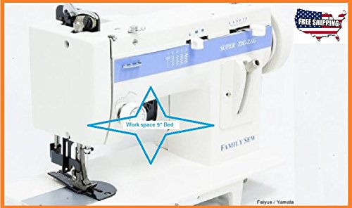 Portable ZigZag & Straight Stitching FS-388 Walking Foot Sewing Machine 9'' Arm by Family Sew