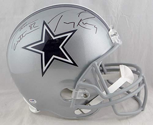 (Jason Witten Tony Romo Autographed Full Size Dallas Cowboys Helmet- PSA Auth)