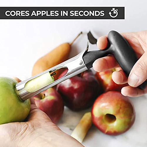 Yubenhong Good Grips Apple Corer, Core Removal Gadgets,Kitchen Tool,Mini Multifunctional Manual Fruit Extractor, Apple Core Remover,Fruit Separator, Core Extractor,Kitchen Helper (Black)