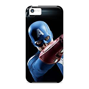 Tpu Fashionable Design Captain America In The Avengers Rugged Case Cover For Iphone 5c New