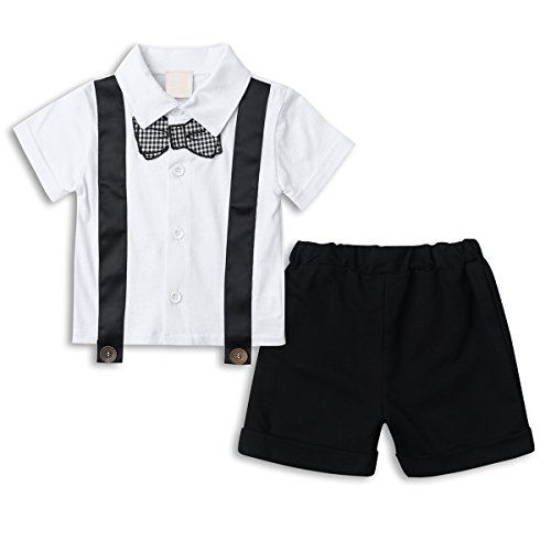 [Baby Boy Short Sleeve Outfit Set, Toddler Summer Clothing Set 2 PCS Short Set] (Halloween Outfits Ladies)