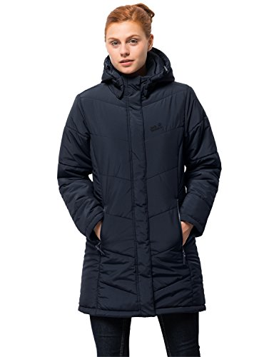 Jack Wolfskin Women's Svalbard Insulated Long Jacket, Midnight Blue, - Jacket Midnight Taffeta