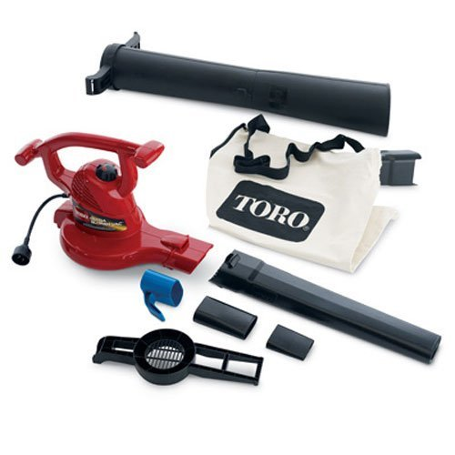(Toro 51619 Ultra Electric Blower Vac, 250 mph, Red (Renewed))