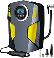 Aibeau Digital Tyre Inflator, Portable Air Compressor Tire Inflator 12V Rapid Electric Car Tyre Inflator Air Pump, 3...