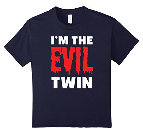 Good Costume Ideas For Twins (unisex-child Im The Evil Twin | Funny Halloween Horror Shirt 4 Navy)