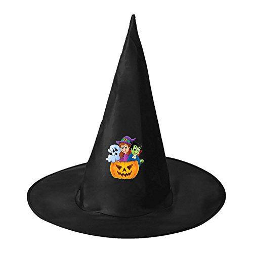 Creative Homemade Superhero Costumes (Costume Party Halloween Witch Black Hat Party Cap Accessory for Adults)