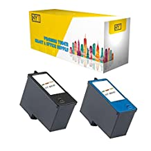 Compatible Black & Color Combo Dell Series 5 High-Capacity Ink Cartridge (M4640/M4646)