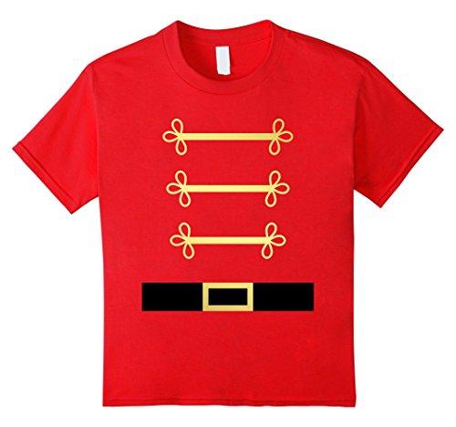 Kids Toy Soldier Nutcracker costume uniform tShirt 8 Red
