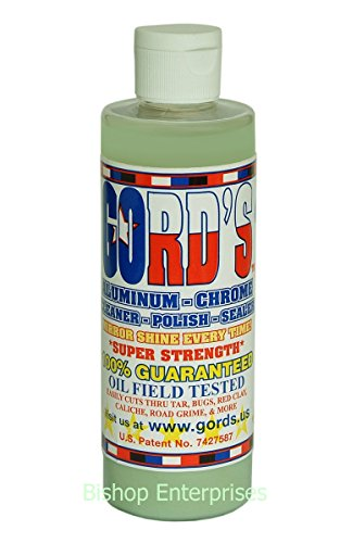 Gord's Aluminum-Chrome-Metal/Cleaner-Polish-Sealer - All IN ONE / 8 OZ.