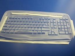 Viziflex\'s Biosafe Anti Microbial Keyboard cover fitting Logitech EX110, YRR71, LX310 SK7207 SK2930