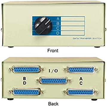 All Female}DB9 pin Serial RS232 2way AB manual data cable//cord//wire Switch Box{T