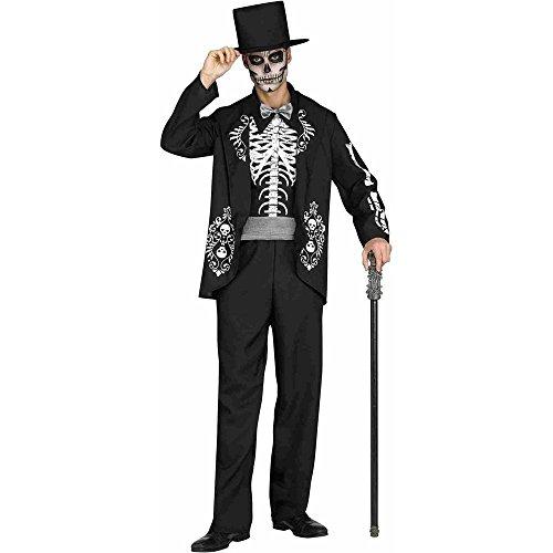 Fun World Men's Skeleton King Adult Costume, Multi, Standard