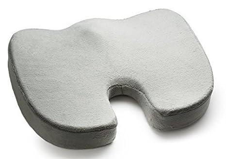 coxis Ortopédica Memory Foam cojines de asiento para silla de ruedas, silla de oficina, coche, avión y 17.5lx13.75wx2.75h: Amazon.es: Amazon.es