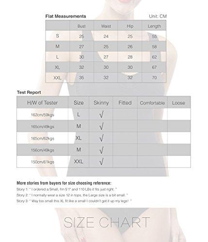 Beilini Women's Slimming Bodysuit Body Shaper Firm Control Shapewear