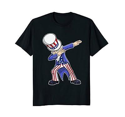 Dabbing Uncle Sam Shirt Funny 4th of July Patriotic American