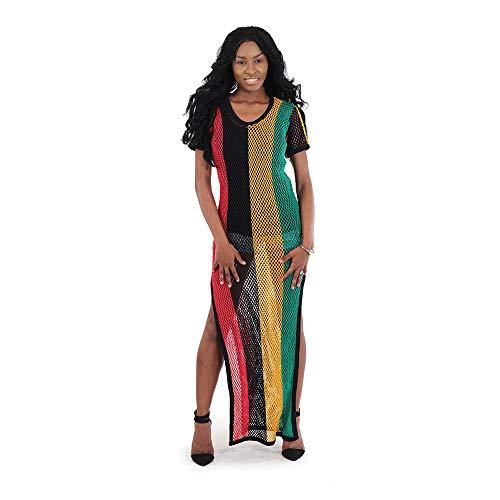 Mesh Rasta Double Split Dress from unbraded