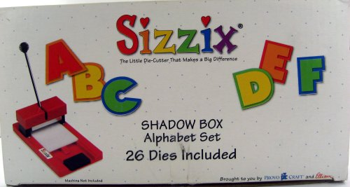 Shadow Box Alphabet Set - Sizzix