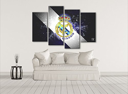 Real Madrid CF Soccer Art Canvas - Hand Made In The US- Framed And Ready To Hang by Canvas Kings