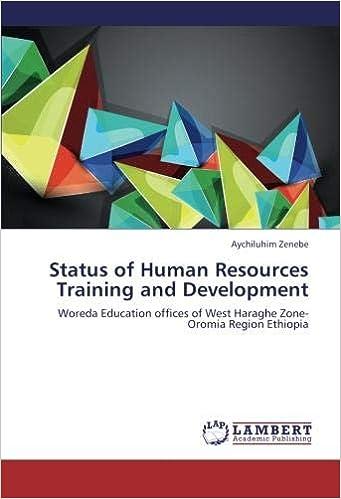Status of Human Resources Training and Development: Woreda
