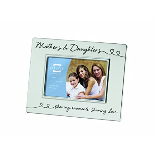 prinz 6 by 4 inch mothers daughters silver metal frame - Mother Daughter Picture Frame
