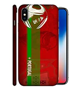 ColorKing Football Portugal 10 Red shell case cover for Apple iphone X