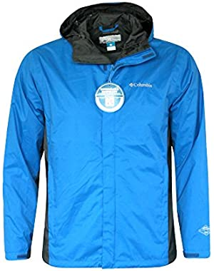 MEN'S ROAD TO RAIN II HOODED BLUE/GREY omni tech jacket