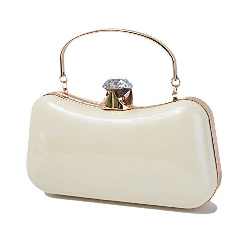 QZUnique Bag Purse Evening Elegant Clutch Women's Luxury Handbag White Shoulderbag gqrRgF