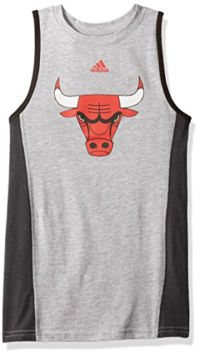 NBA Youth Boys 8-20 Chicago Bulls Fan Gear Tank-Heather Grey-M(10-12) Chicago Bulls Heather