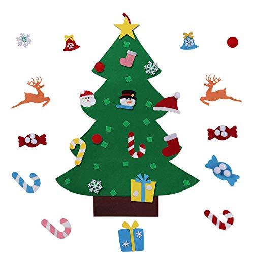 Baffo DIY Felt Christmas Tree Decoration Set 3.1Ft with Detachable Xmas Ornaments Xmas Gifts for Kids Christmas Decoration Christmas Tree Door Wall Hanging Décor 26Pcs (Tree Set Christmas Decorations)