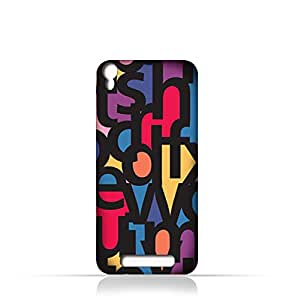 AMC Design Lava Iris 820 TPU Silicone Case With Abstract Font Seamless Pattern - Multi Color